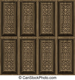 carved wood panels