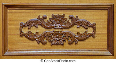 Carved wooden