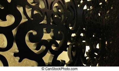 Carved Wooden Pattern - Carved wooden pattern interior retro...