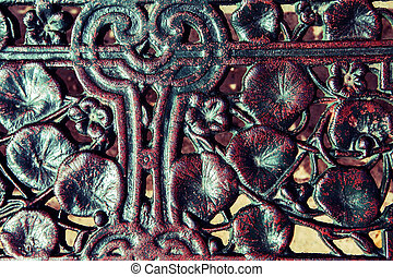 carving art on temple wall