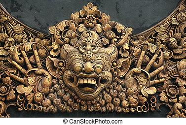 Carving at Pura - Hundreds years old carving at Pura in...