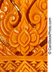 Carving Candle detail texture background