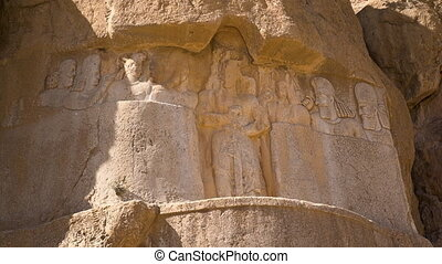 Carvings of the necropolis of the Persian kings - A steady...