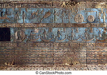 carvings, oud, hieroglyphic, tempel, egyptisch