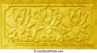 carvings, stucco