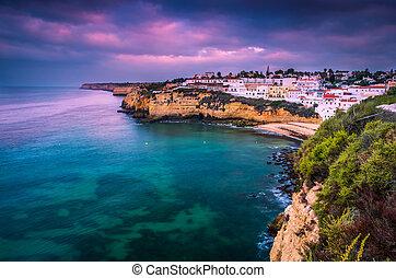 Carvoeiro small town on the Portuguese coast