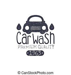 carwash, weinlese, briefmarke