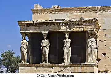 carya, chrám, erechteion