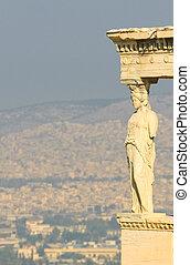 caryatids, acropolis, athens