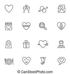 casório, amor, ícones