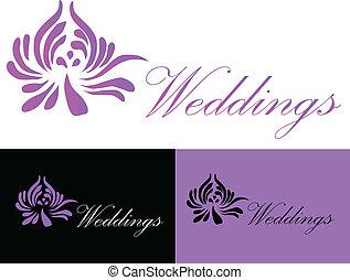 casório, cartão, convite, logotipo