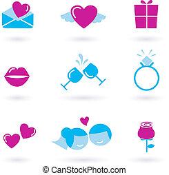casório, cobrança, ícones