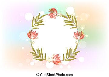 casório, floral, cartão, convite