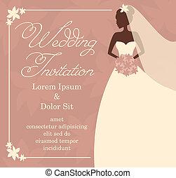 casório, modelo, convite