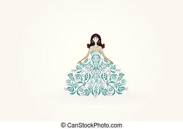 casório, noiva, cartão cumprimento, convite