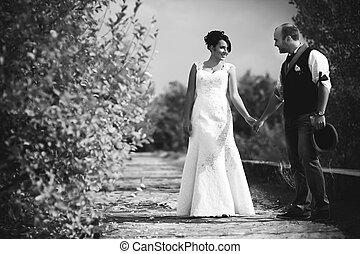 casório, noivinhos, outono