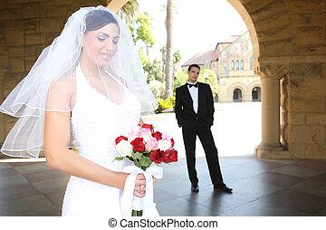 casório, noivo, noiva
