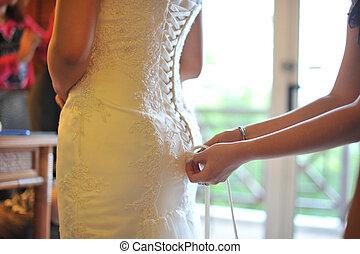 casório, preparação