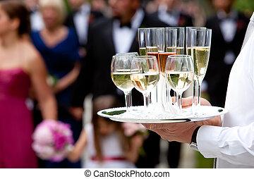 casório, serviço, catering