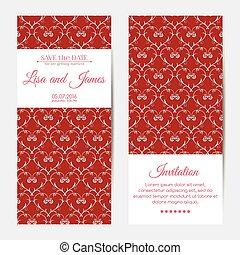 casório, vetorial, vertical, convites