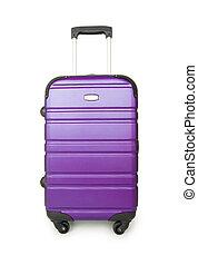 cas, blanc, concept, bagage