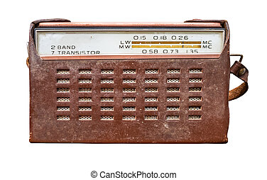 cas, cuir, radio transistor, vendange