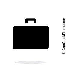cas, icône, simple, arrière-plan., blanc