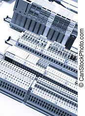 cas, industriel, puissance, panneau, circuit-breakers