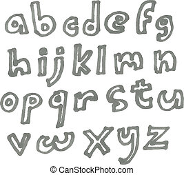 cas, marqueur, inférieur, alphabet