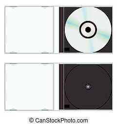 cas, musique, vide, cd