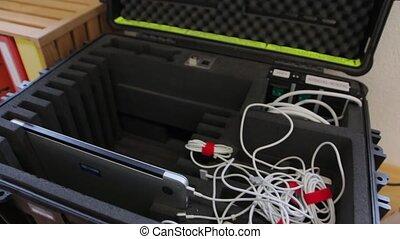 cas, ordinateur portable, protecteur