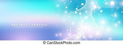 cas9, groß, genomic, medizin, atom, wissenschaft, abstrakt, ...