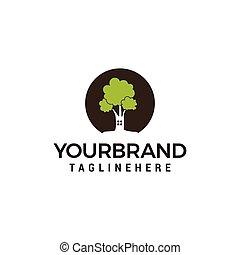 casa, árvore, vetorial, desenho, modelo, logotipo
