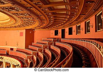 casa ópera, assento, interior, -