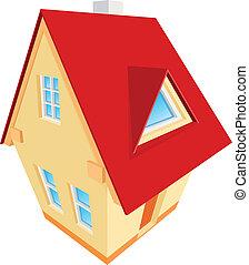 casa, abstratos, vetorial, ilustração