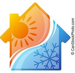 casa, acondicionador de aire