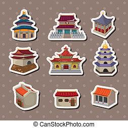 casa, adesivos, chinês