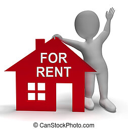casa, affitto, proprietà, noleggio, o, mostra, contratto affitto