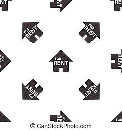 casa, aluguel, padrão