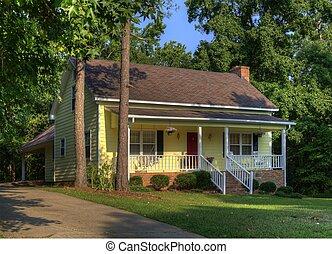casa, amarela