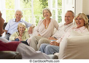 casa, amici, socializzare