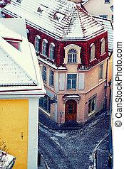 casa, antigas, tallinn