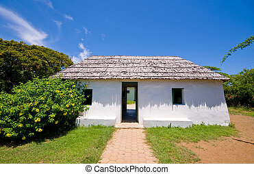 casa, antiguo, esclavo