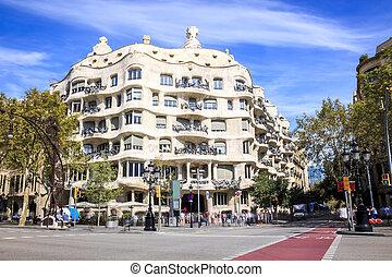 casa, antonio, barcelona, gaudi, mila, españa