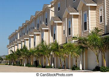 casa apartamento, em, a, sulista, estados unidos