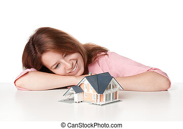 casa, aproximadamente, sonho