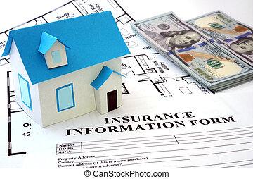 casa, assicurazione, forma