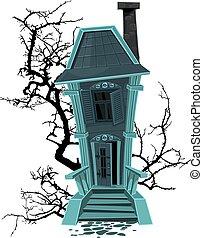 casa assombrada, feiticeira halloween