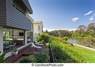 casa, australiano, moderno