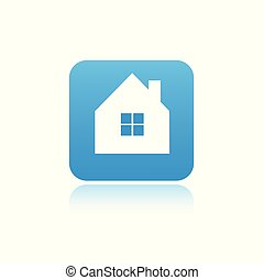 casa azul, ícone